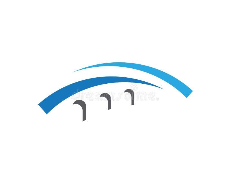 Het ontwerp van het het Embleemmalplaatje van het brugpictogram stock illustratie