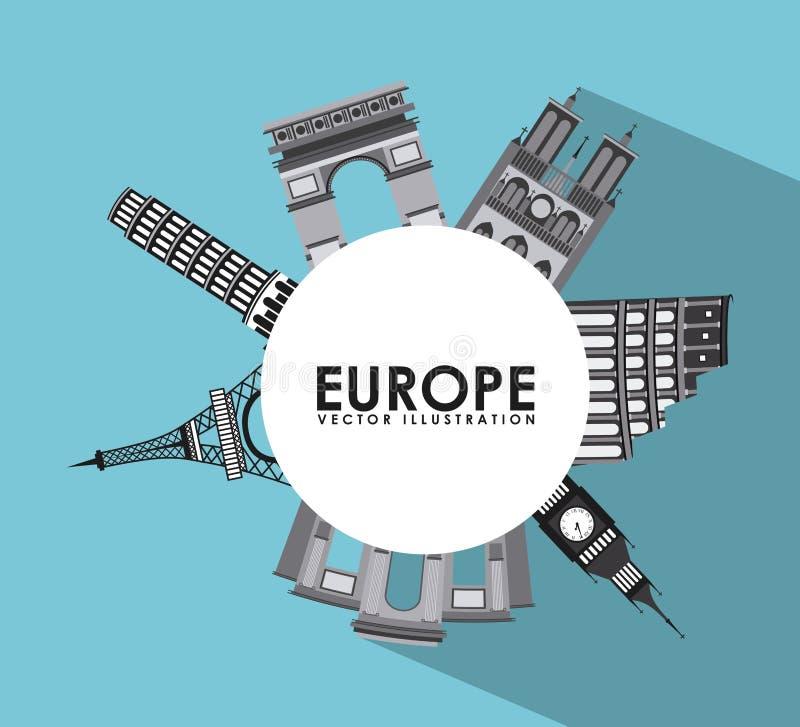 Het ontwerp van Europa stock illustratie