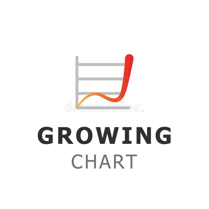 Het ontwerp van het financiële en investeringsembleem Groeiende het symbool vectorillustratie van het grafiekmalplaatje stock illustratie