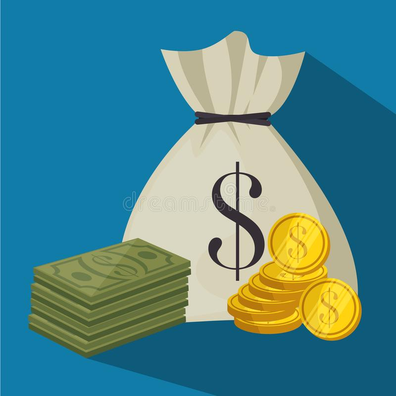 Het ontwerp van het geldpictogram royalty-vrije illustratie