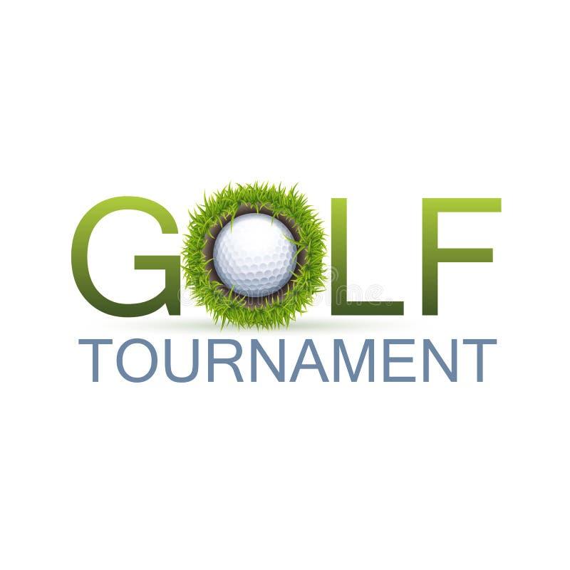 het ontwerp van golftoernooien royalty-vrije illustratie