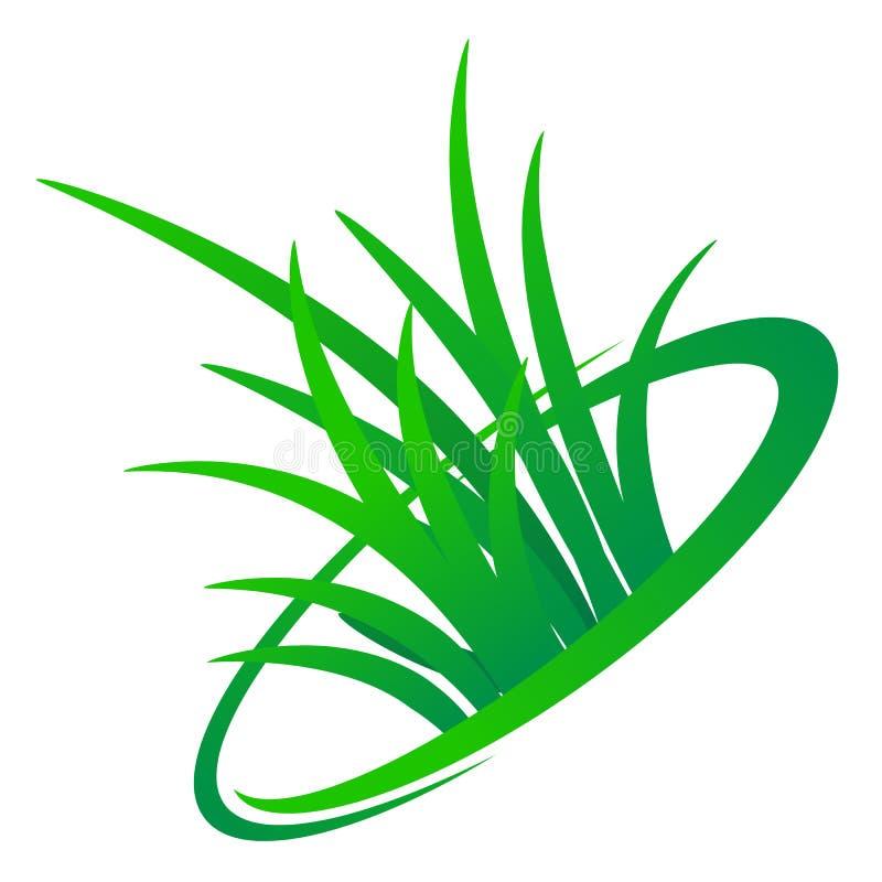 Het ontwerp van het grasembleem
