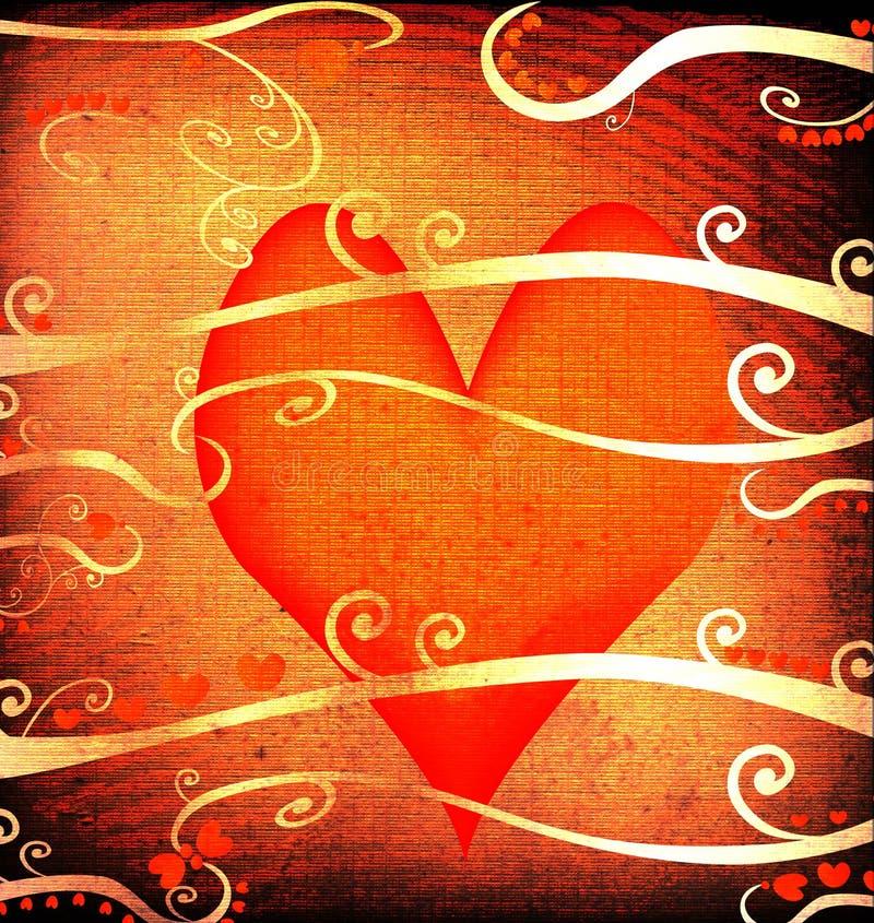 Het ontwerp van Grunge voor valentijnskaartdag royalty-vrije illustratie