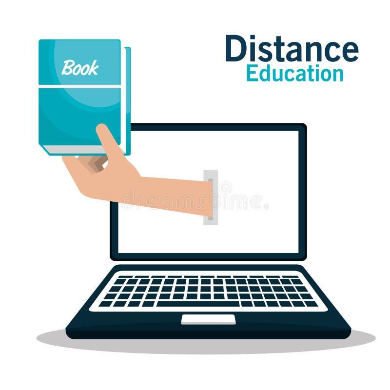 het ontwerp van het afstandsonderwijs vector illustratie
