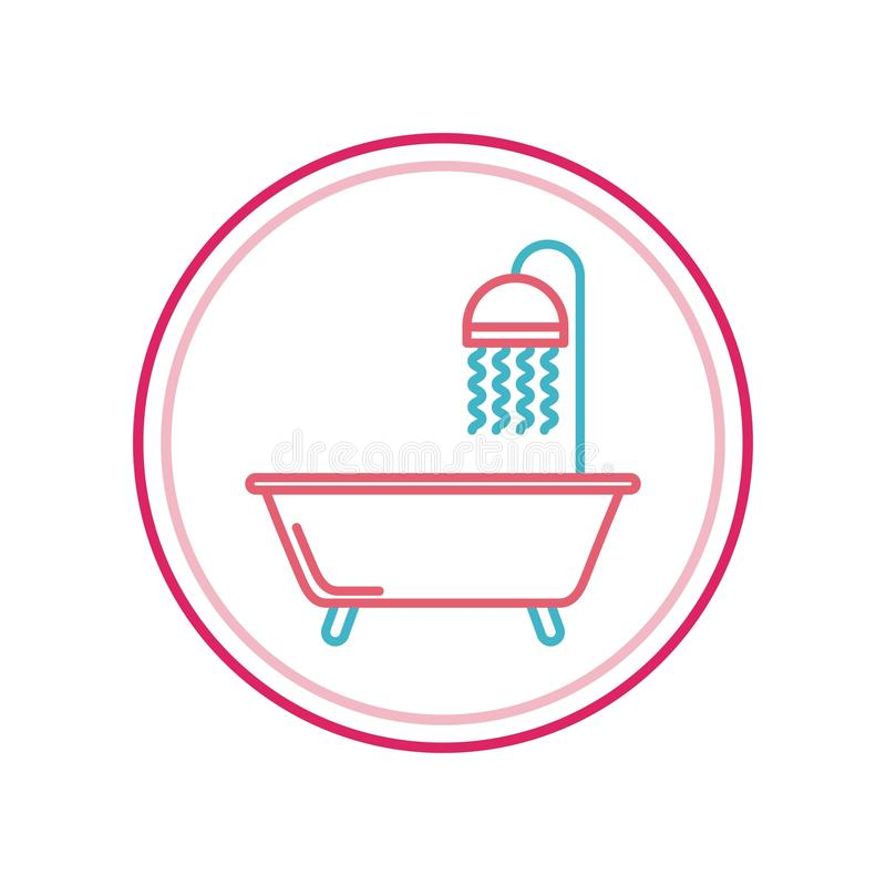 het ontwerp van het badkuippictogram royalty-vrije illustratie