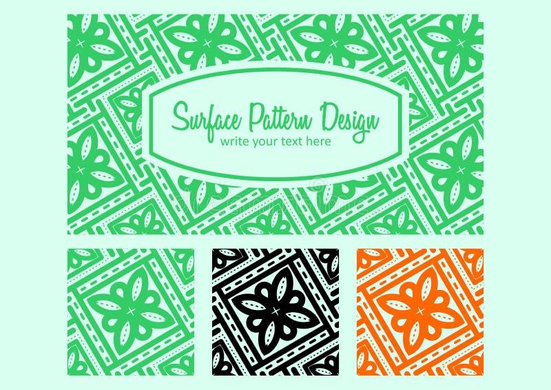 Het ontwerp van het batikpatroon stock afbeeldingen