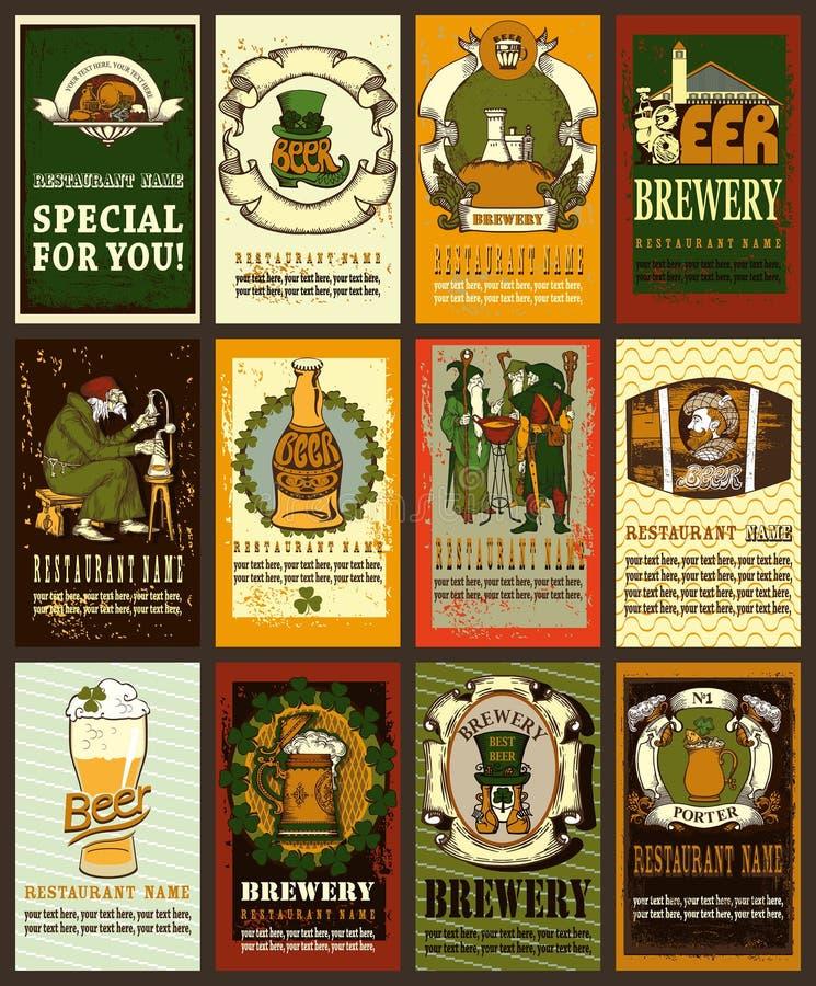 Het ontwerp van het bieretiket voor St Patrick Dag stock illustratie