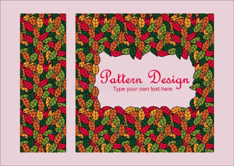 Het ontwerp van het bladerenpatroon royalty-vrije stock afbeeldingen