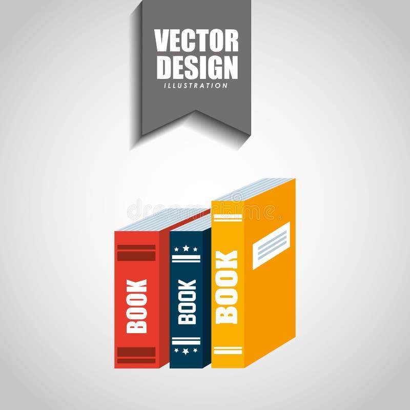 Het ontwerp van het boekpictogram vector illustratie