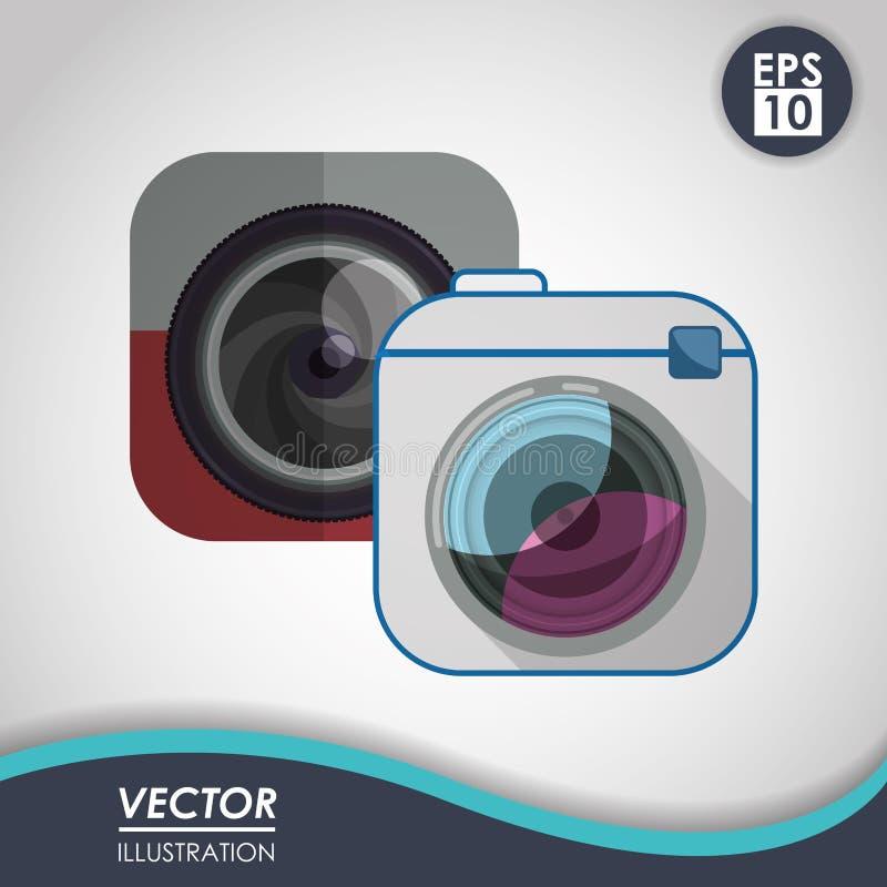 Het ontwerp van het camerapictogram vector illustratie