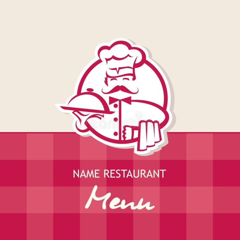 Het ontwerp van het chef-kokmenu stock illustratie