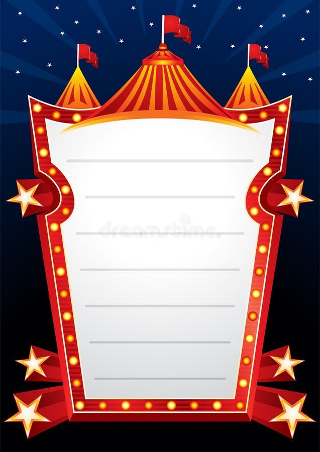 Het ontwerp van het circus royalty-vrije illustratie