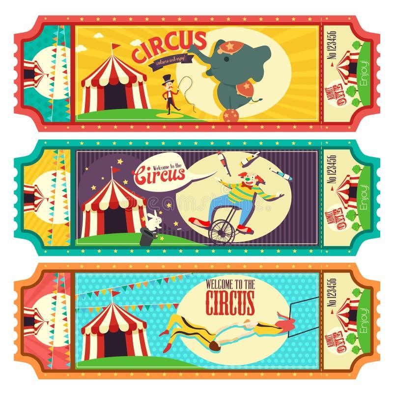 Het Ontwerp van het circuskaartje stock illustratie