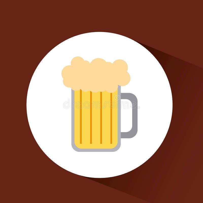 het ontwerp van het drankenmenu stock illustratie