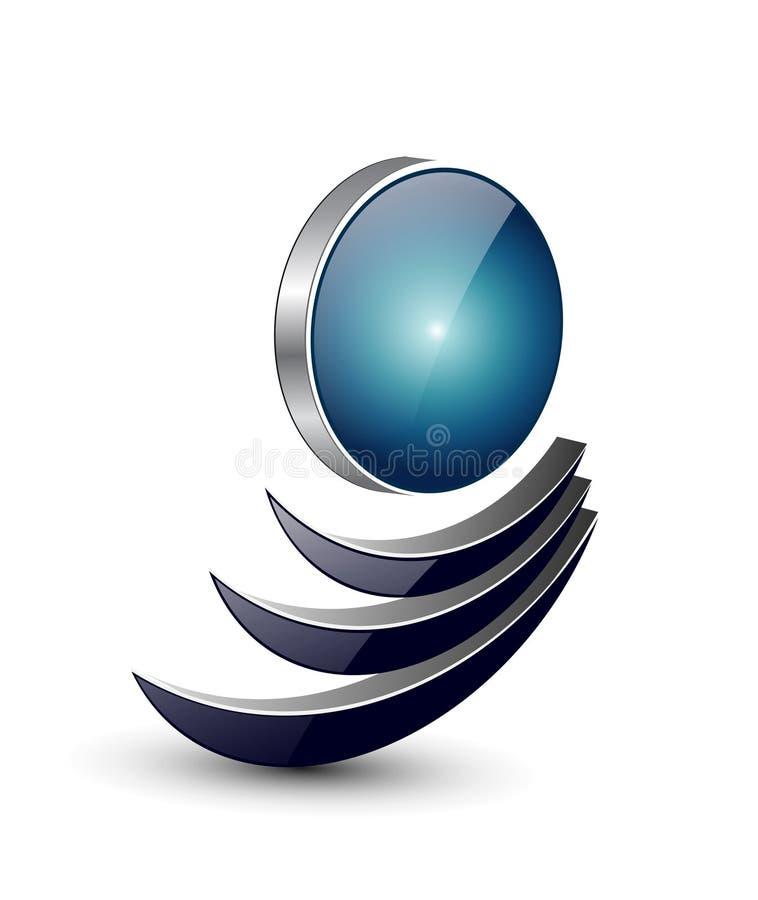 Het ontwerp van het embleem royalty-vrije illustratie