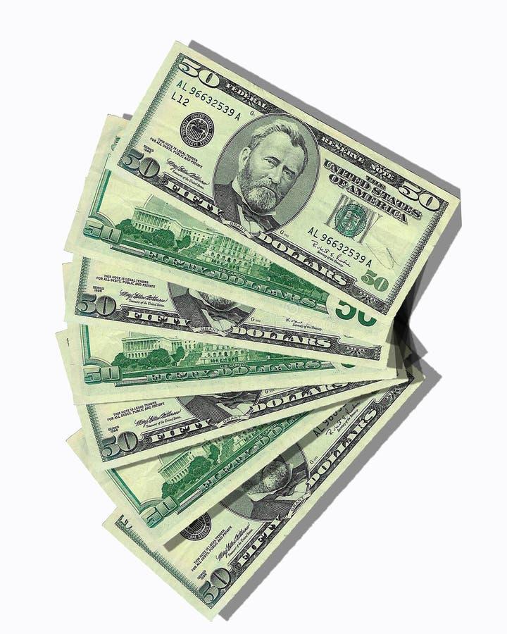 Het Ontwerp van het geld 50 dollarsrekeningen royalty-vrije illustratie