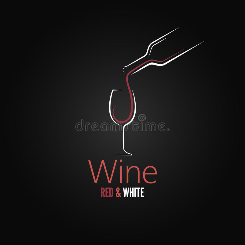 Het ontwerp van het het conceptenmenu van het wijnglas vector illustratie