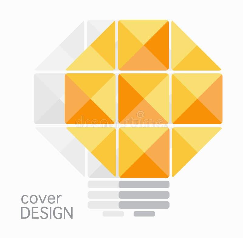 Het ontwerp van het het jaarverslagpotlood van de boekdekking royalty-vrije illustratie