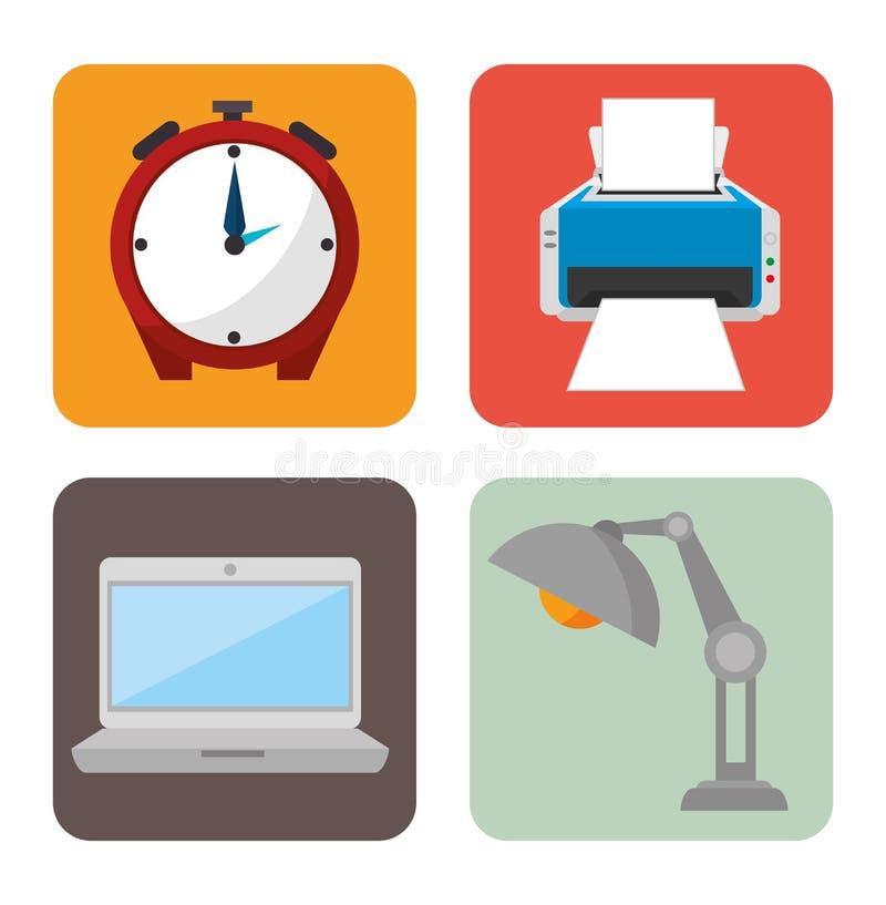 Het ontwerp van het het werkbureau vector illustratie