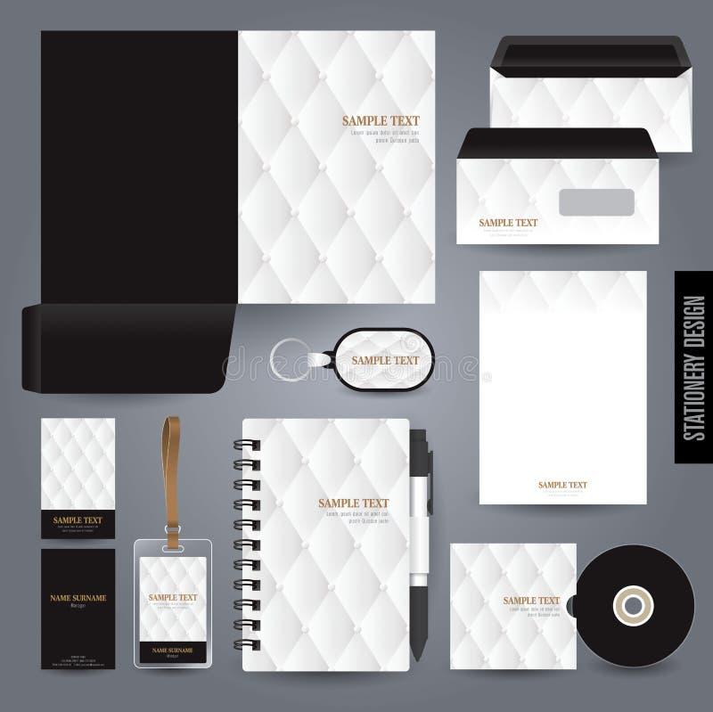 Het ontwerp van het kantoorbehoeftenmalplaatje vector illustratie