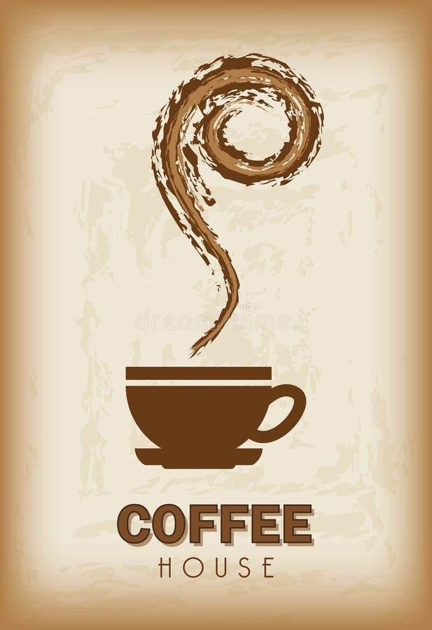 Het ontwerp van het koffiehuis stock illustratie