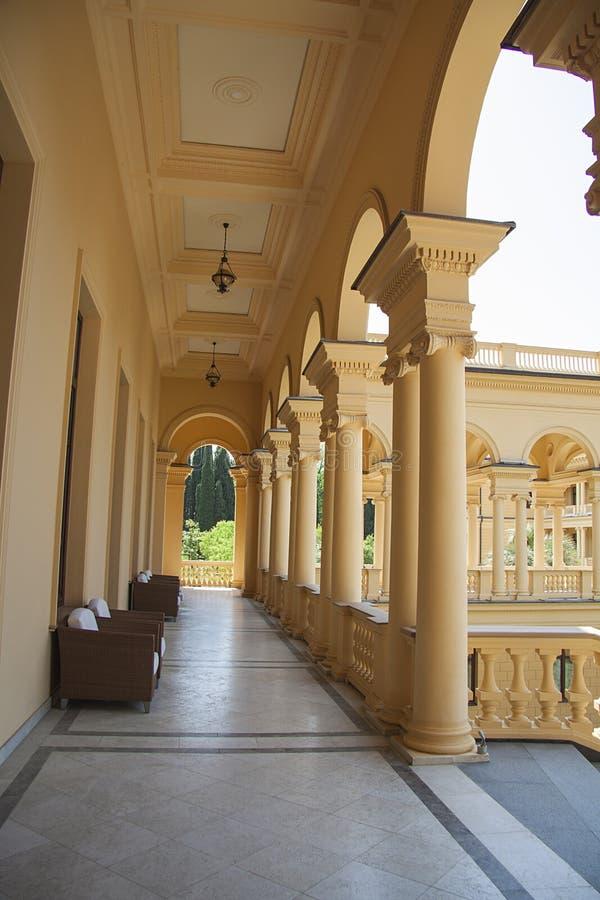 Het ontwerp van het luxekasteel in modern sanatorium stock fotografie