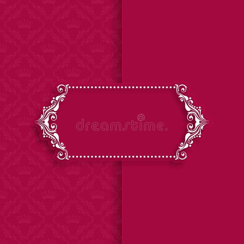 Het ontwerp van het malplaatjekader voor groetkaart royalty-vrije illustratie