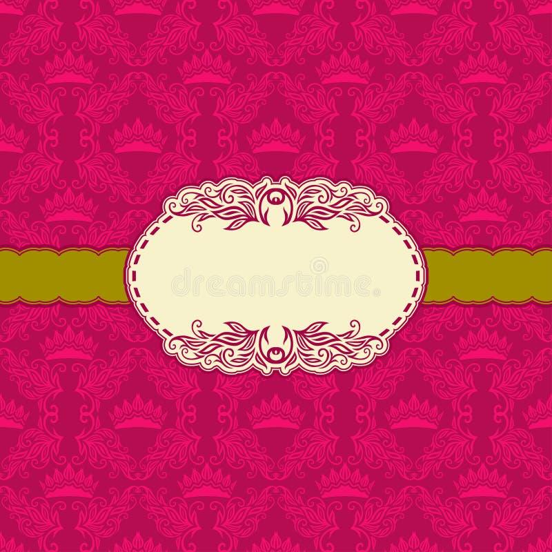 Het ontwerp van het malplaatjekader voor groetkaart. royalty-vrije illustratie