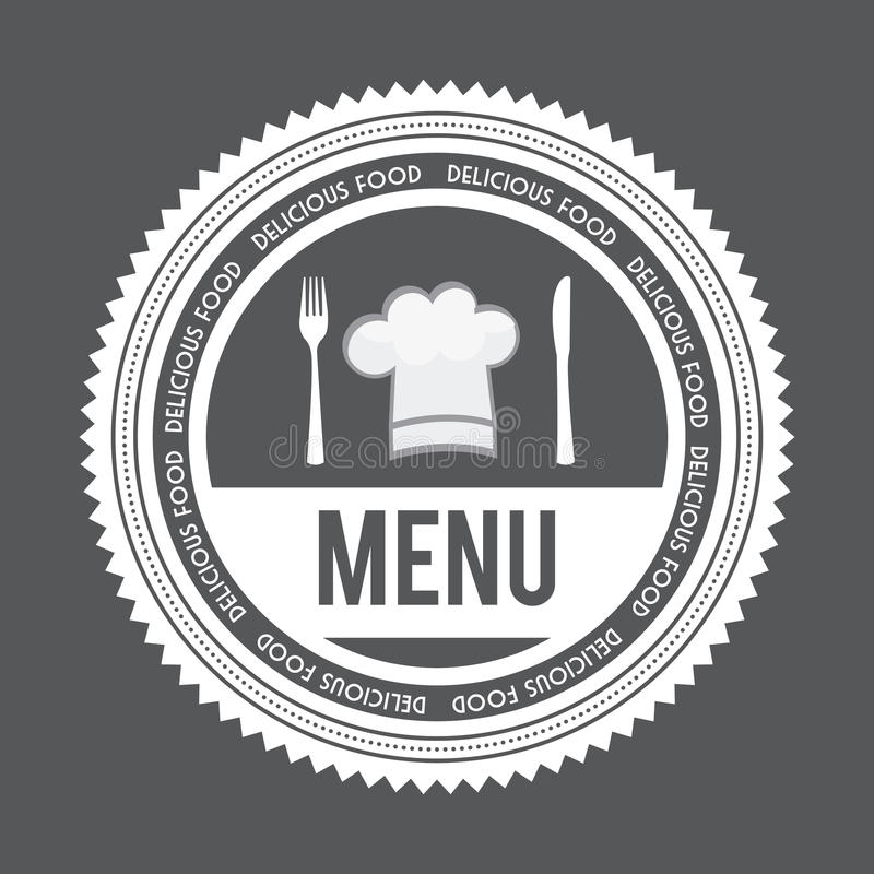 Het ontwerp van het menu vector illustratie