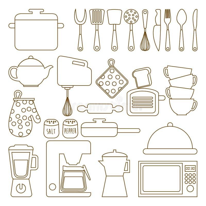 Het ontwerp van het menu stock illustratie