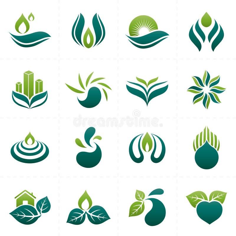 het ontwerp van het milieuembleem royalty-vrije illustratie