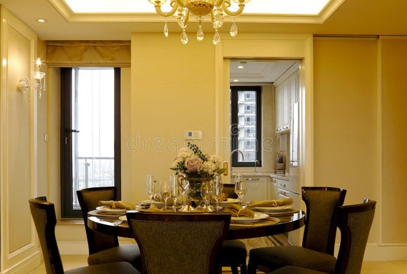 Het ontwerp van het model van het flatrestaurant royalty-vrije stock foto