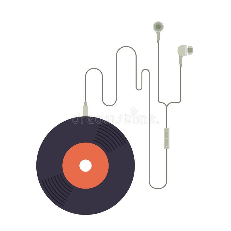 Het ontwerp van het muziekverslag royalty-vrije illustratie