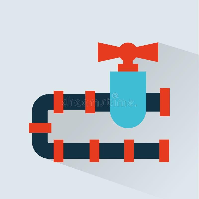 Het ontwerp van het pijpleidingspictogram stock illustratie