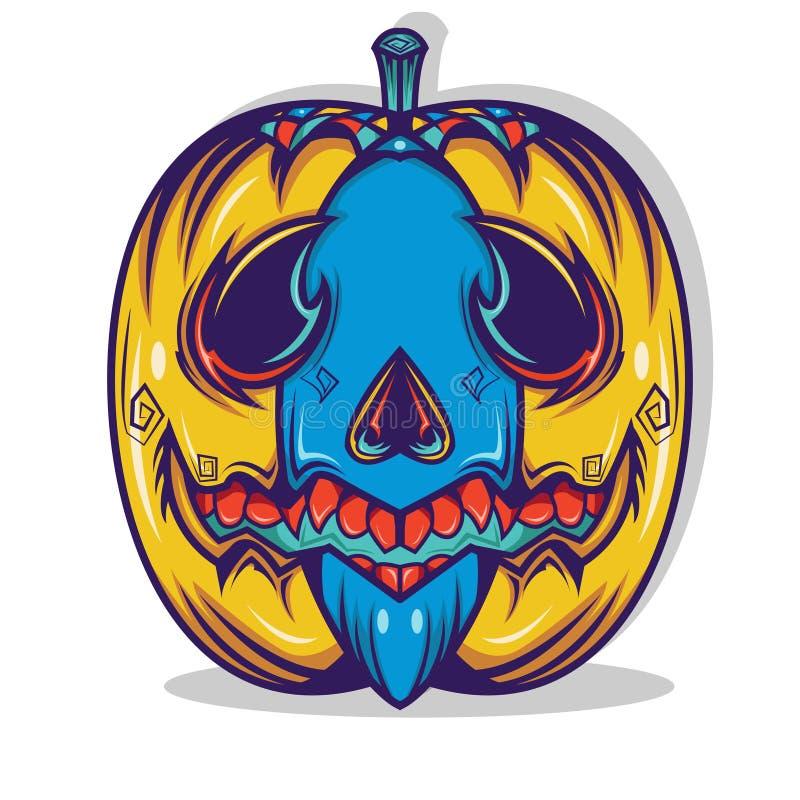 Het Ontwerp van het Pompoenoverhemd vector illustratie