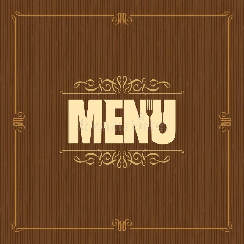 Het ontwerp van het restaurantmenu - Illustratie vector illustratie