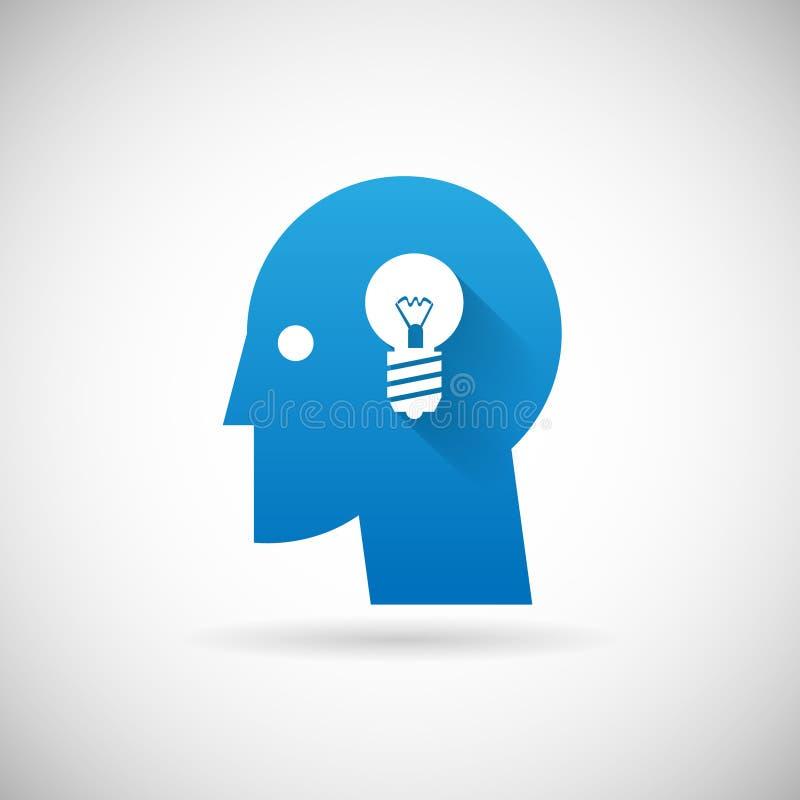 Het Ontwerp van het van het bedrijfs ideesymbool Creativiteitpictogram stock illustratie