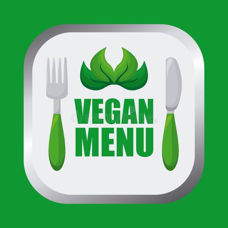Het ontwerp van het veganistvoedsel royalty-vrije illustratie