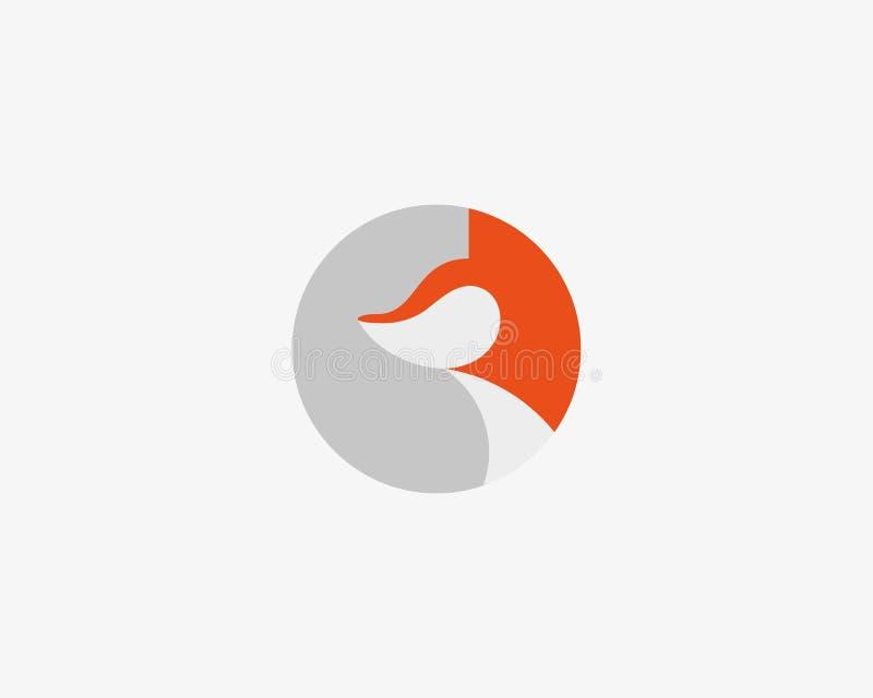 Het ontwerp van het vosembleem Ronde foxy vectorillustratie logotype vector illustratie
