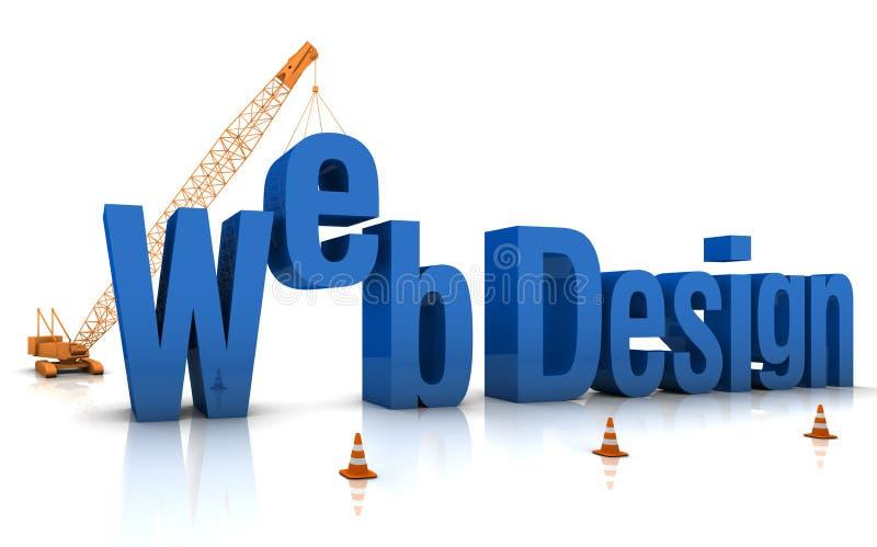 Het Ontwerp van het Web vector illustratie