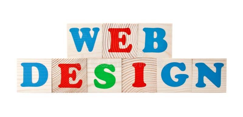 Het ontwerp van het Web stock foto's