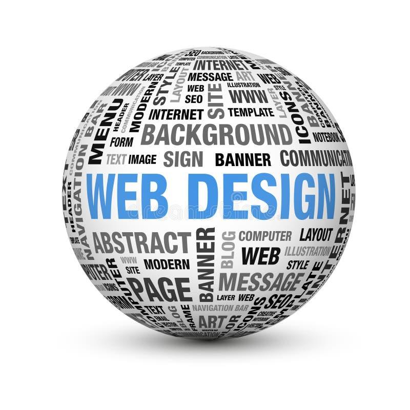 Het ontwerp van het Web stock illustratie
