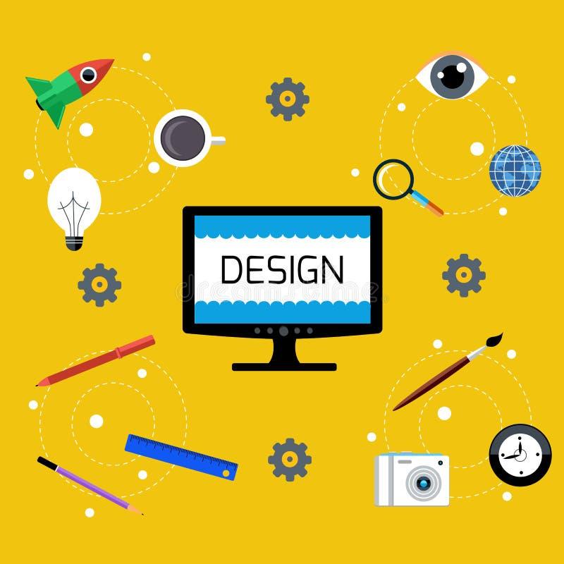 Het Ontwerp van het Web Programma voor ontwerp en architectuur royalty-vrije illustratie