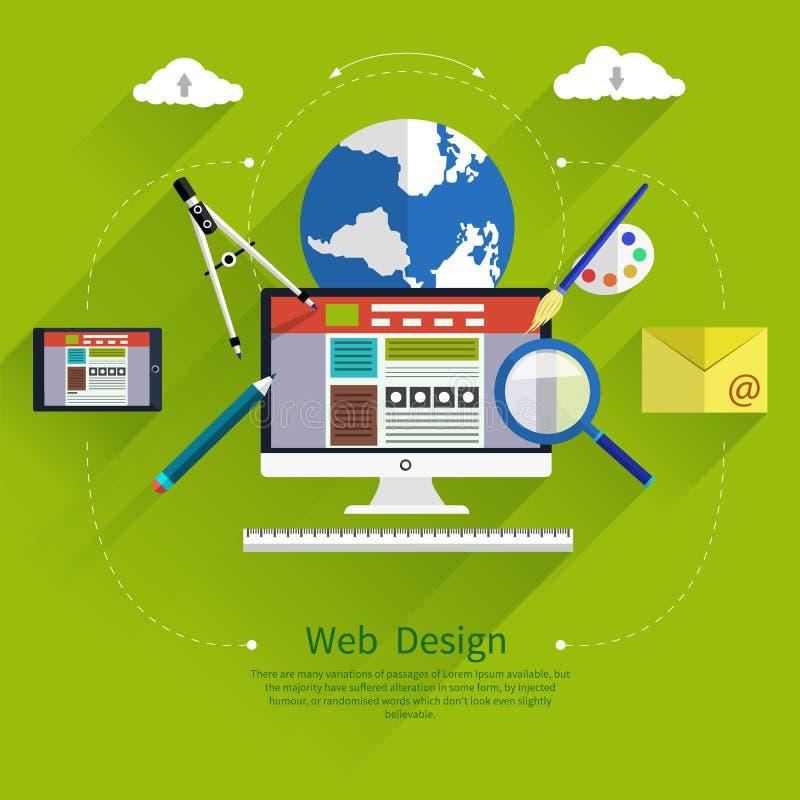 Het Ontwerp van het Web Programma voor ontwerp en architectuur vector illustratie