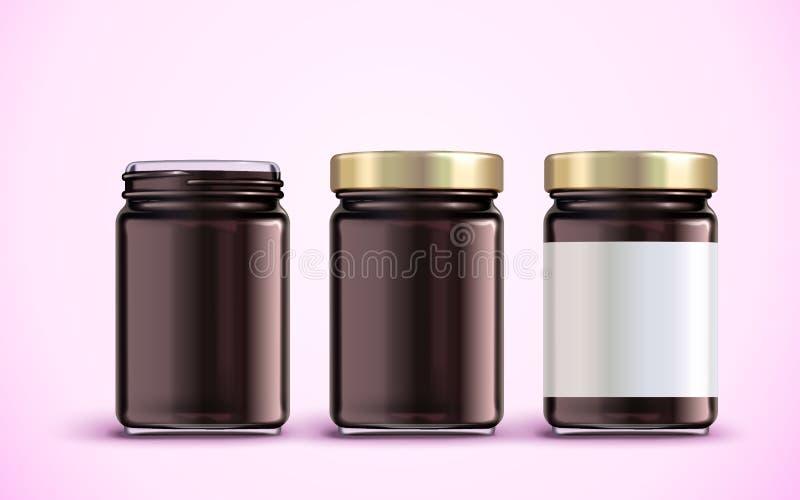 Het ontwerp van het jampotpakket royalty-vrije illustratie