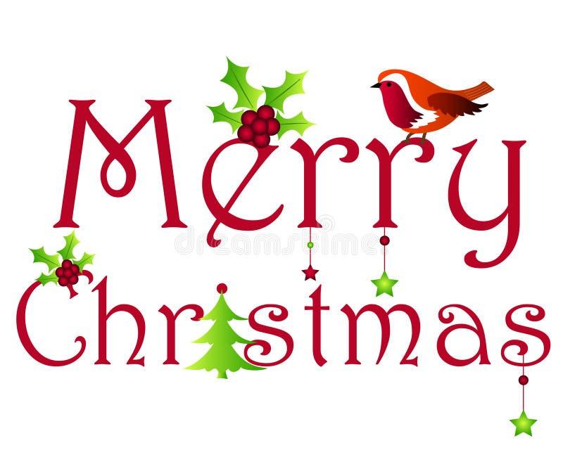Het ontwerp van Kerstmis royalty-vrije illustratie