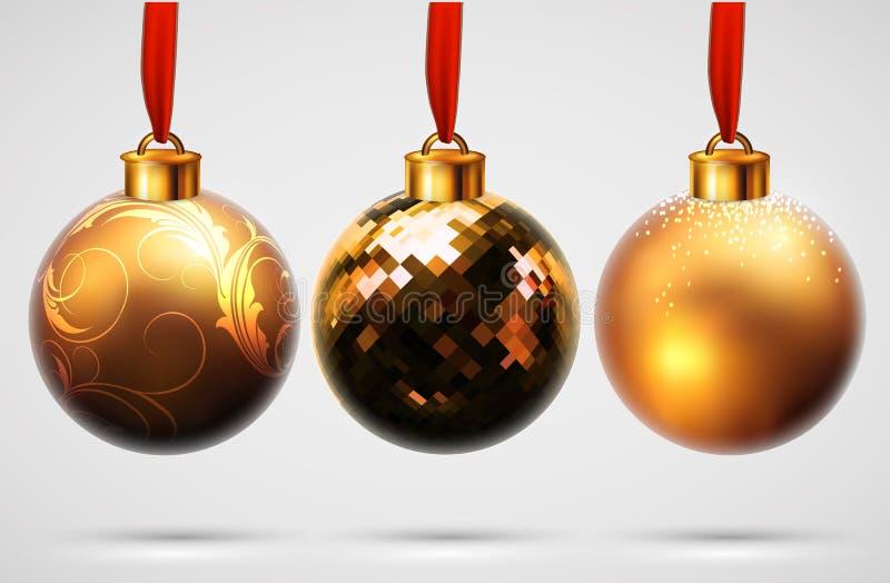 Het ontwerp van Kerstmisballen stock illustratie
