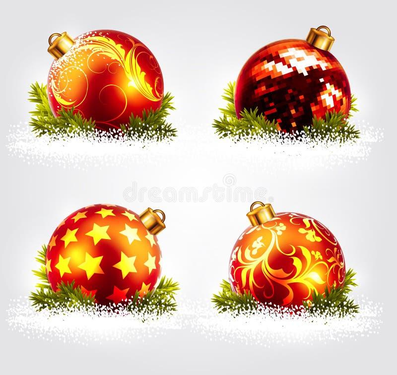 Het ontwerp van Kerstmisballen royalty-vrije illustratie