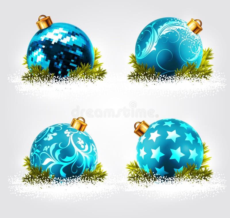 Het ontwerp van Kerstmisballen vector illustratie