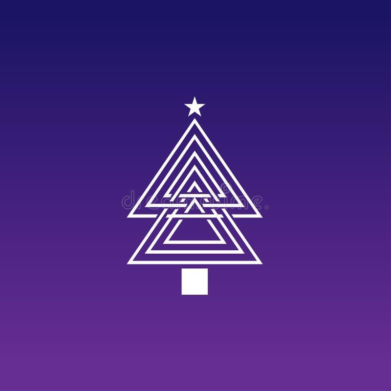 Het ontwerp van het Kerstmisembleem met een gradatieachtergrond vector illustratie